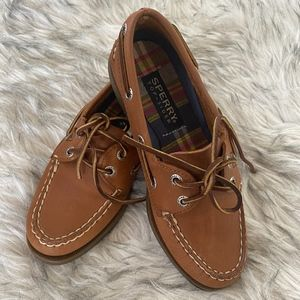 Sperry leather shoes.